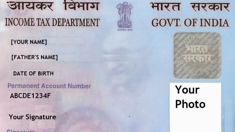 PAN card Dummy