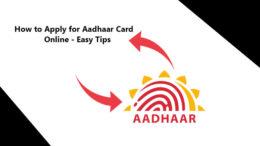 how to apply aadhaar card
