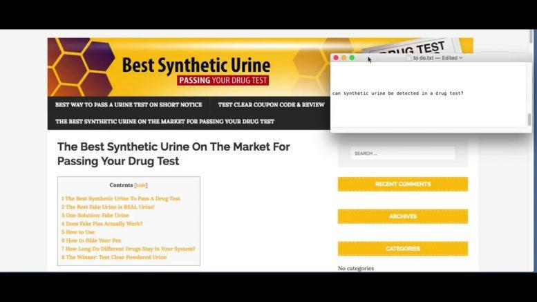 The Fake Urine Kits Goldrush