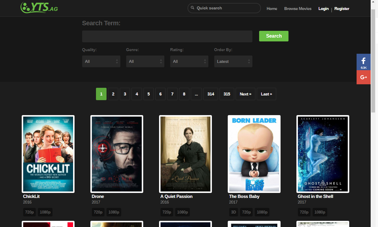 yts ag yify torrents - Best Alternatives to GoMovies