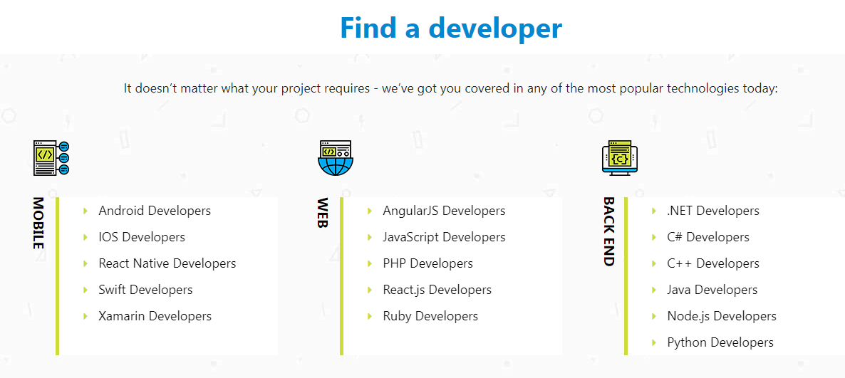 find a developer