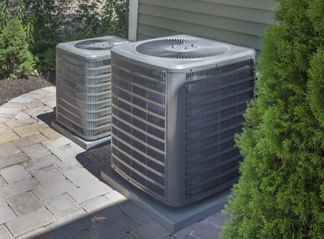 HVAC heating and air conditioning residential units or heat pumps