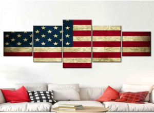 wall art with map