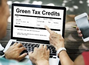 Green Tax Credits Document Form Concept
